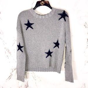 Rails star knit sweater Grey